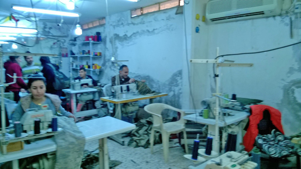 Warshin sewing co-operative, which hires some men