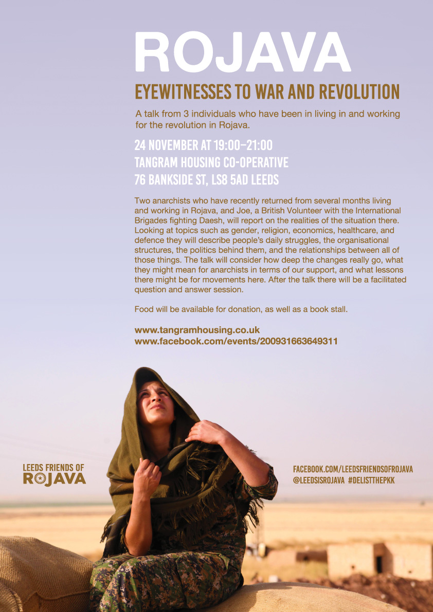 Rojava, Leeds, solidarity, talk, event, UK
