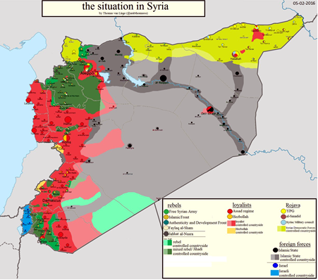 Syria, Rojava, war, map
